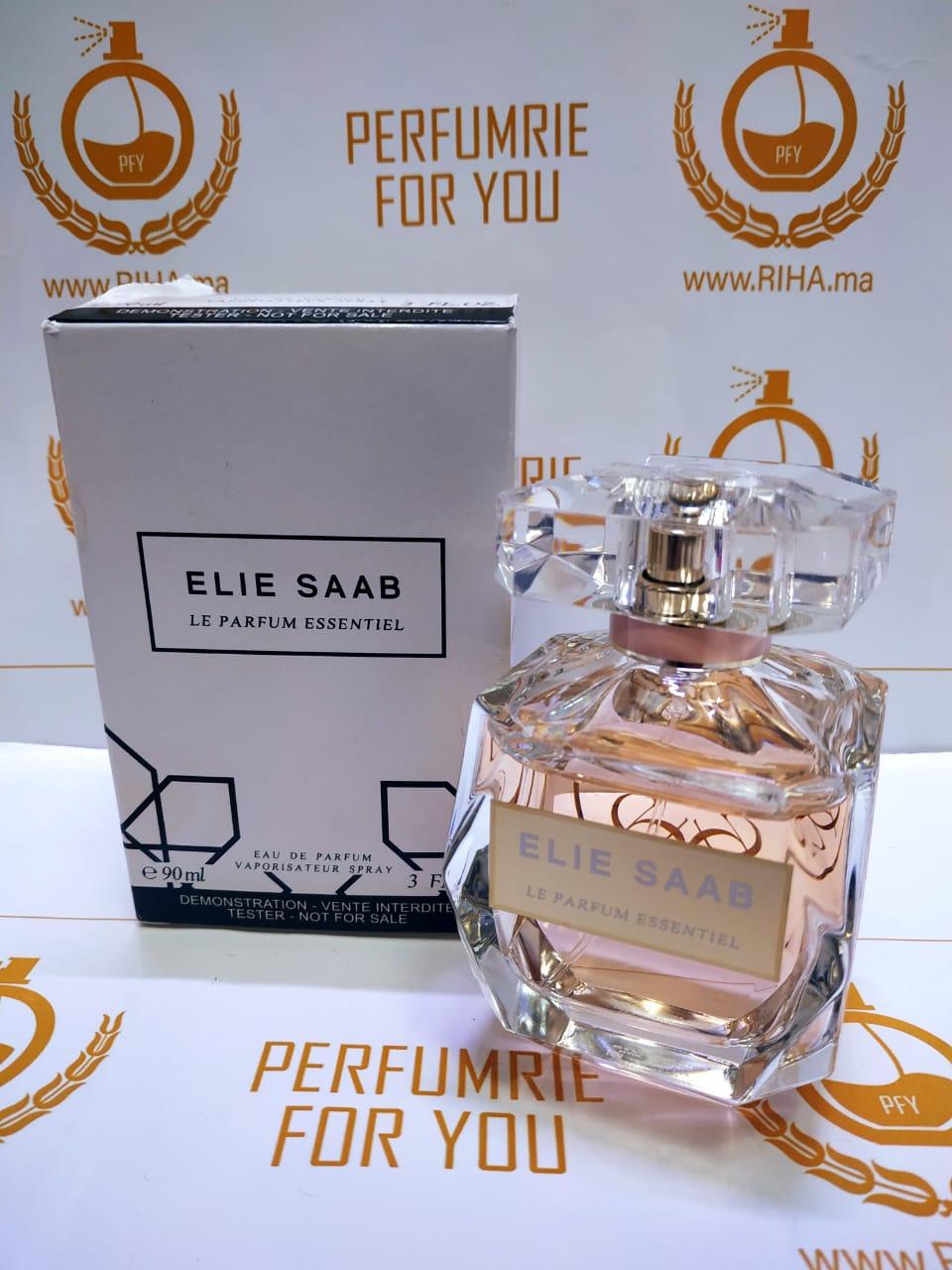 Testeur Parfum Essentiel Elie Saab Eau De Parfum Pour Femme 90ml Riha Vente De Parfum Original Au Maroc